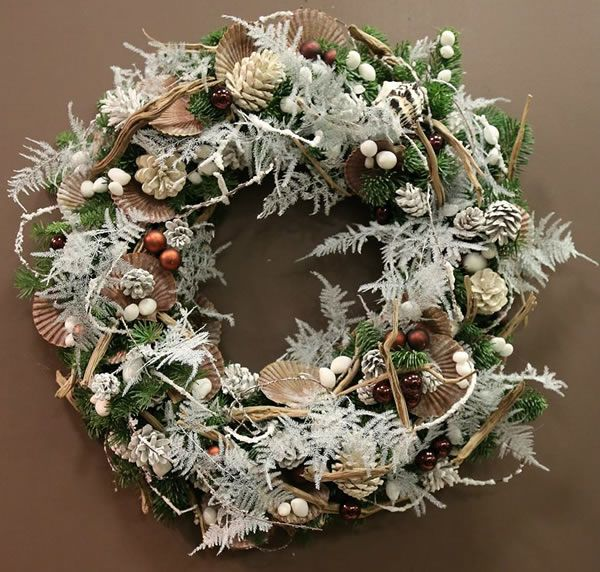 Christmas Door Wreaths By Phillo Flowers In Notting Hill, West London UK