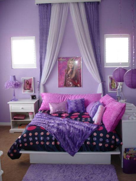 15+ Beautiful Purple Bedroom Ideas For Teenage Girl images