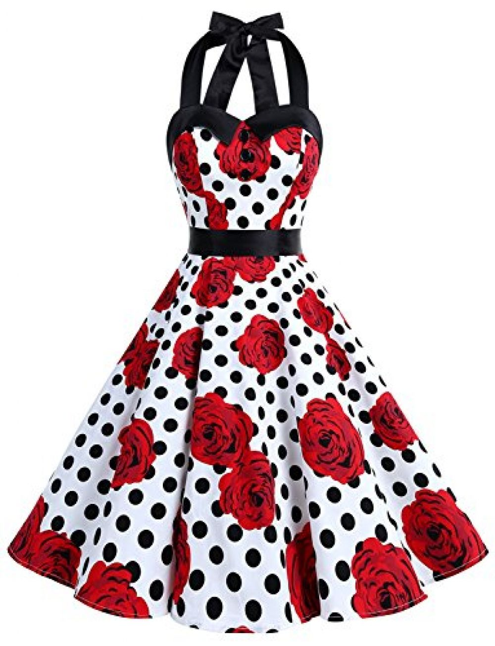 Dressystar vintage polka dot retro cocktail prom dresses us us