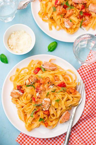 Pasta mit Lachs wie beim Italiener