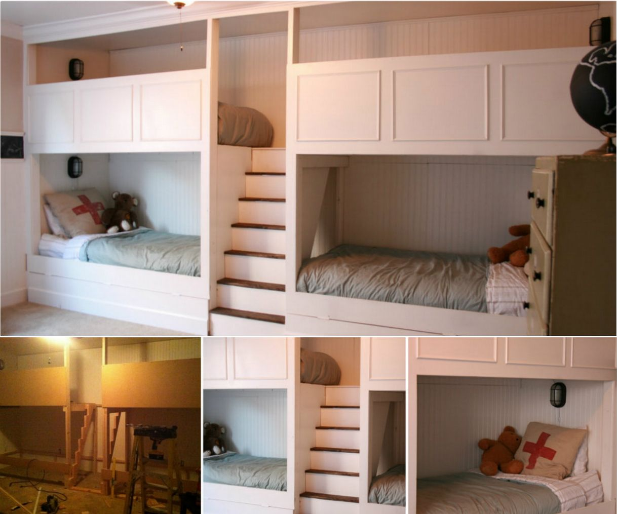 4 Bed Bunk Diy Bunk Bed Bunk Beds Built In Bunk Beds With Stairs