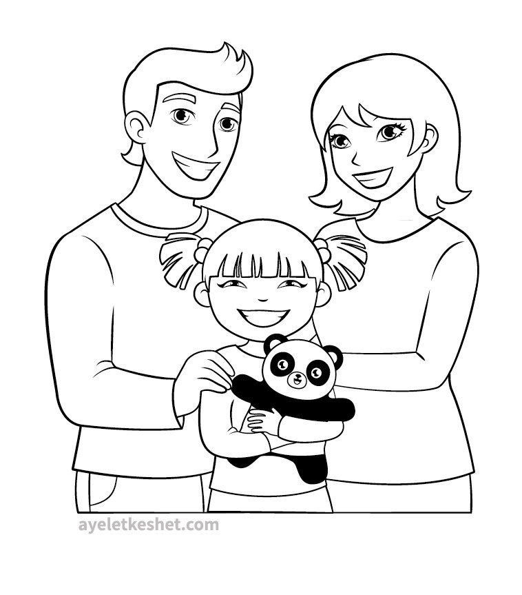 Printable Family Member Coloring Page Family Coloring Pages