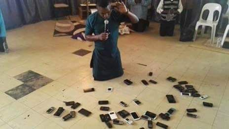 Isaac says this Kampala pastor was praying for the phones to get mobile money!