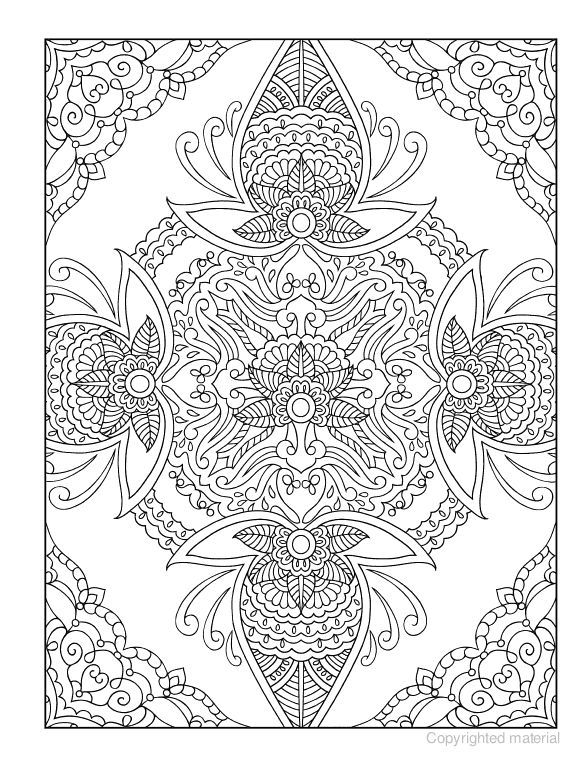 mehndi coloring pages 12 ,colouring pictures | Coloring books ...