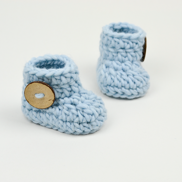 Ravelry: Fast and Easy Baby Booties pattern by Croby Patterns | Baby ...