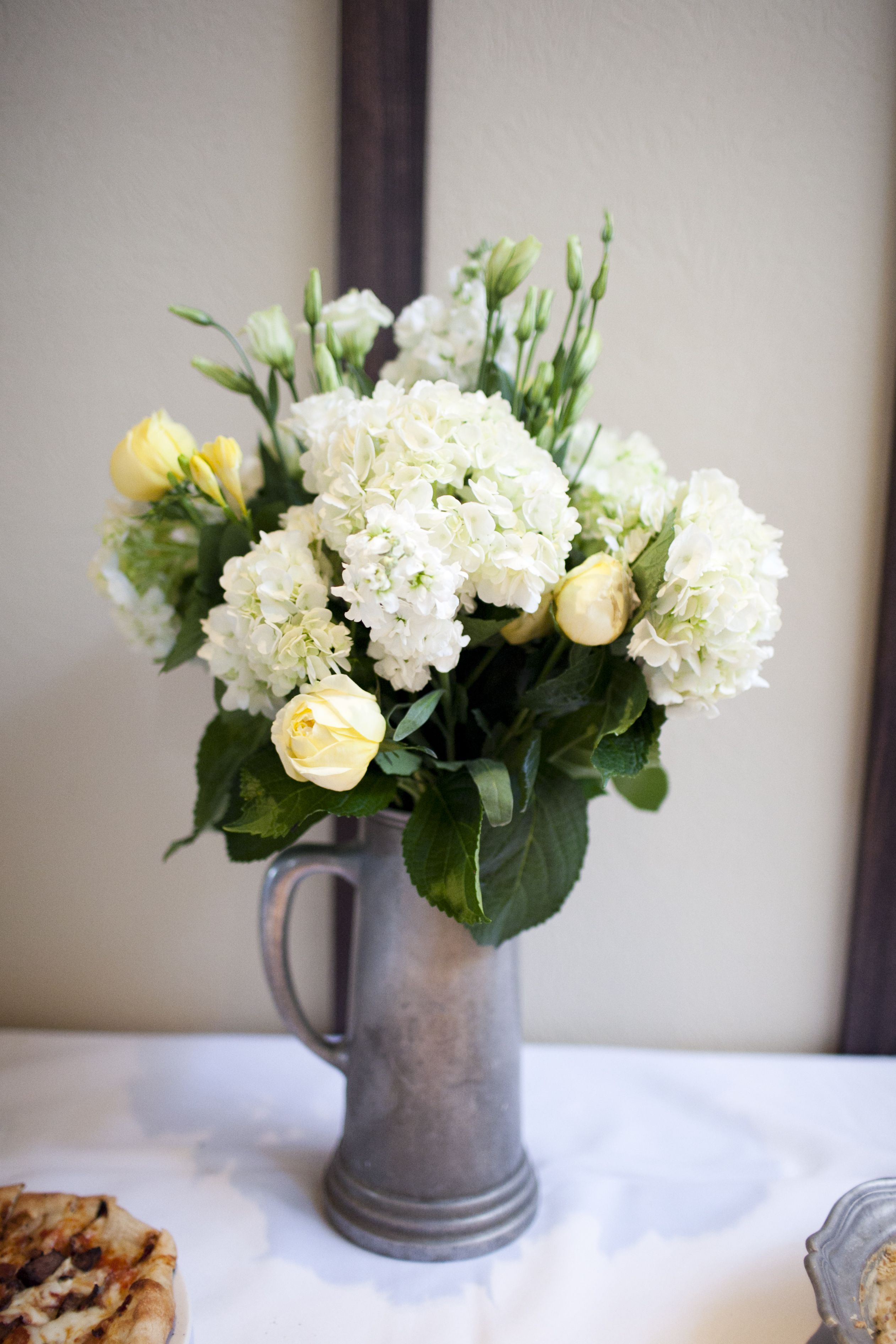 Yellow And White Reception Flowers Im Gonna Change My Last Name