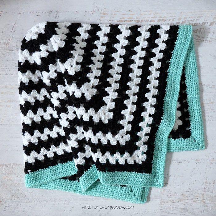 Color Pop Baby Blanket – Free Crochet Pattern | Manta de cuadrados ...