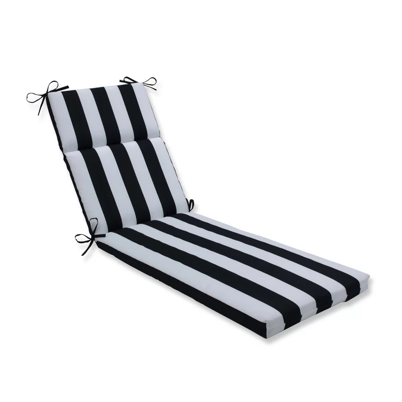Cordon Stripe Indoor Outdoor Chaise Lounge Cushion In 2020 Outdoor Chaise Cushions Lounge Cushions Chaise Lounge Cushions