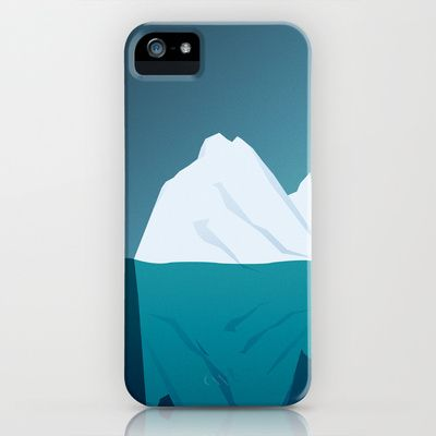 Iceberg in Cold Ocean iPhone Case by Maciej Konczewski - $35.00    http://society6.com/MaciejK/Iceberg-in-Cold-Ocean_iPhone-Case