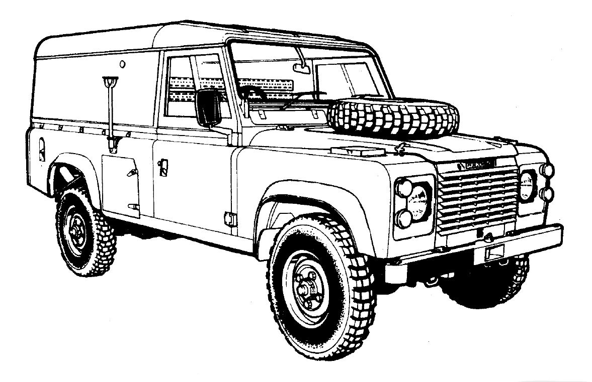 Land Rover Outline