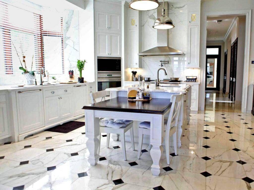 Beautiful And Elegant Kitchen Floor Tile | Marble floor ...