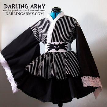 Jack Skellington Cosplay Kimono Dress by DarlingArmy