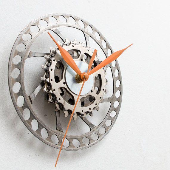 Bicycle Wall Clock Industrial Clock Bike Clock Unique Wall Clock Unique Clock Modern Clock Steampunk Clock Cyc Industrial Clocks Modern Clock Wall Clock