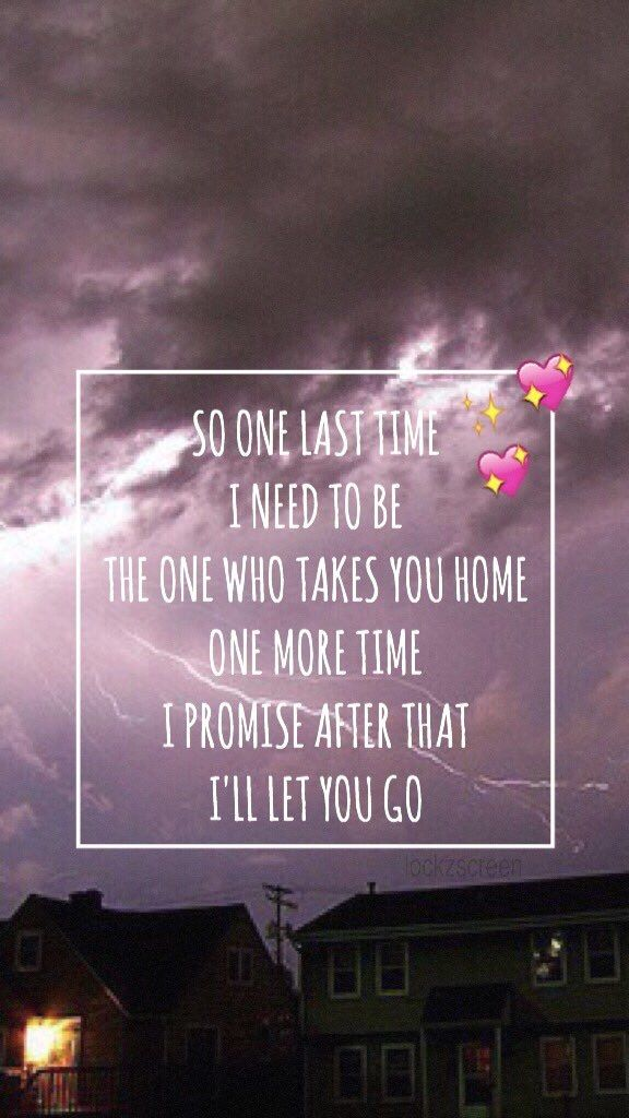 Wallpaper Lockscreen One Last Time Ariana Grande (lyrics ...