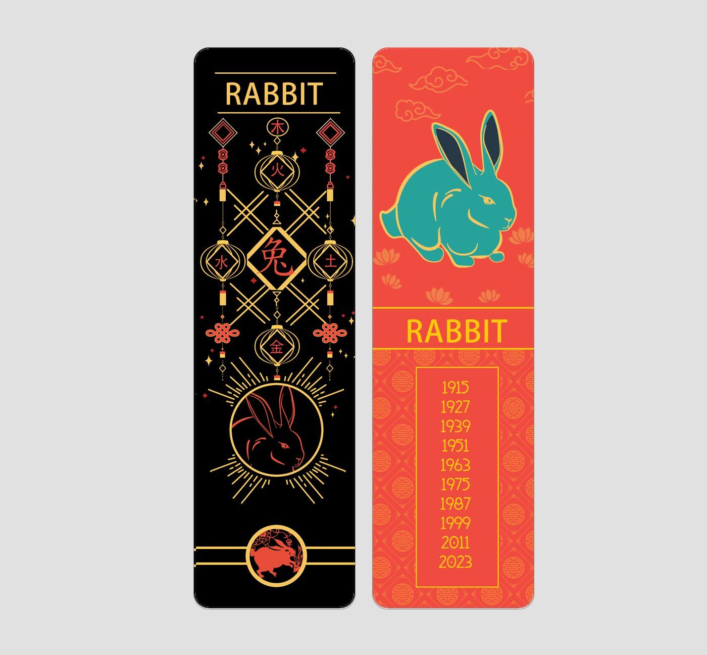 Rabbit Chinese Zodiac Bookmark Buttered Kat in 2020