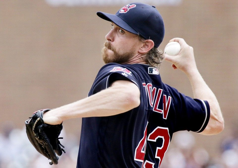 Cleveland Indians' Josh Tomlin  pitches against the Detroit Tigers  Sunday, June 26, 2016, in Detroit. Indians won 9-3  (AP Photo/Duane Burleson)