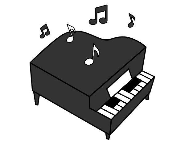 Piano De Cola Dibujo Imagui Spring Accessories Piano Travel Book Design