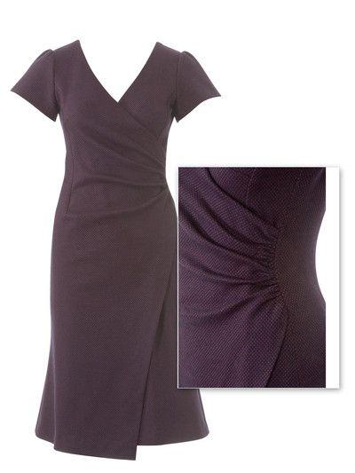 burda style, Schnittmuster - Kleid mit Wickeleffekt 107 aus 9-2013 ...