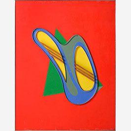 1991 - Domela, César - Relief #302 - 65x50cm - Oil on wood, lucite, copper