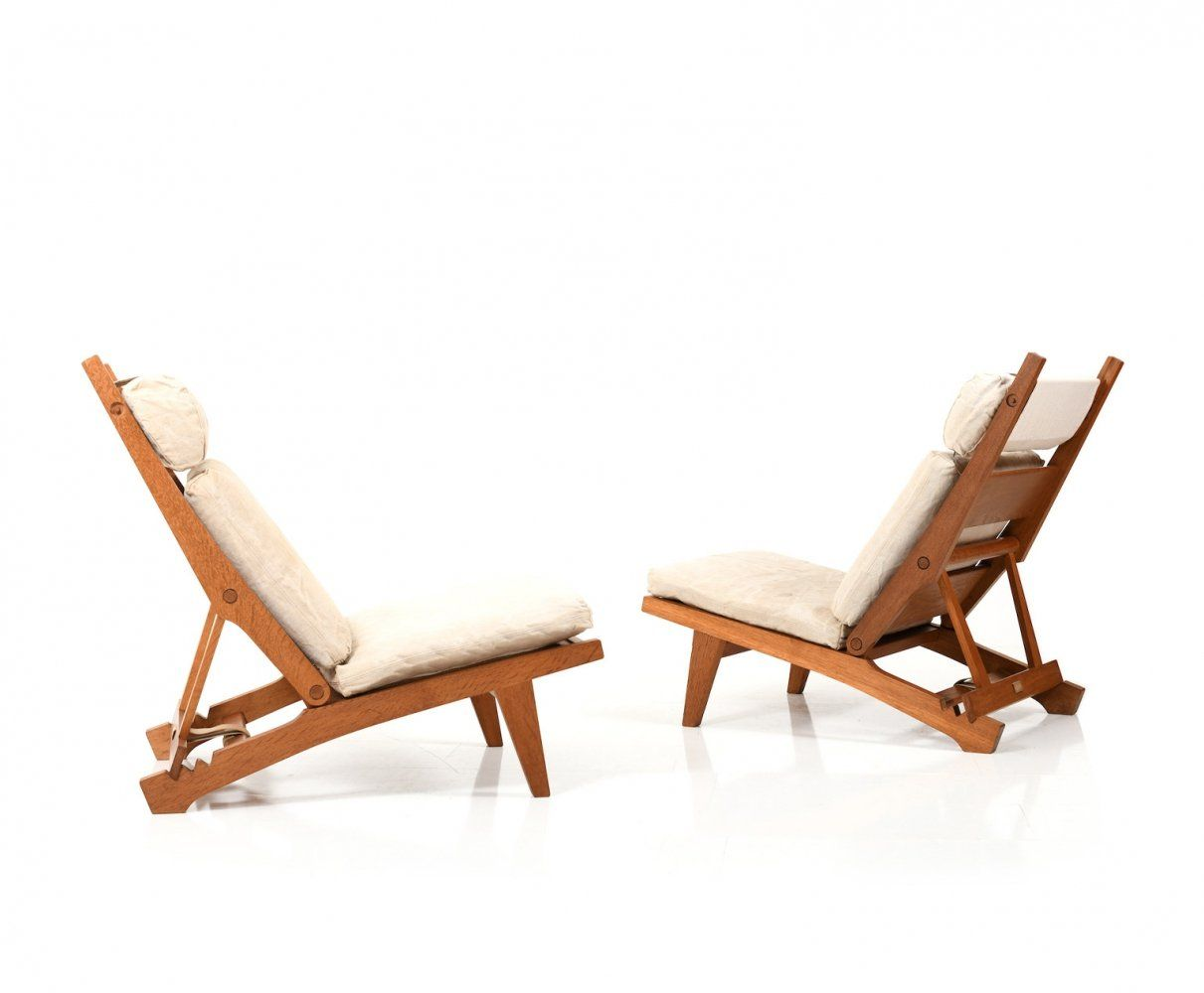 For Sale Pair Of Ap71 Reclining Lounge Chairs By Hans Wegner Lounge Chair Recliner Chair