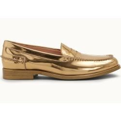 Tod's - Loafer aus Metallic-Leder, Gold, 39 - Shoes Tod's