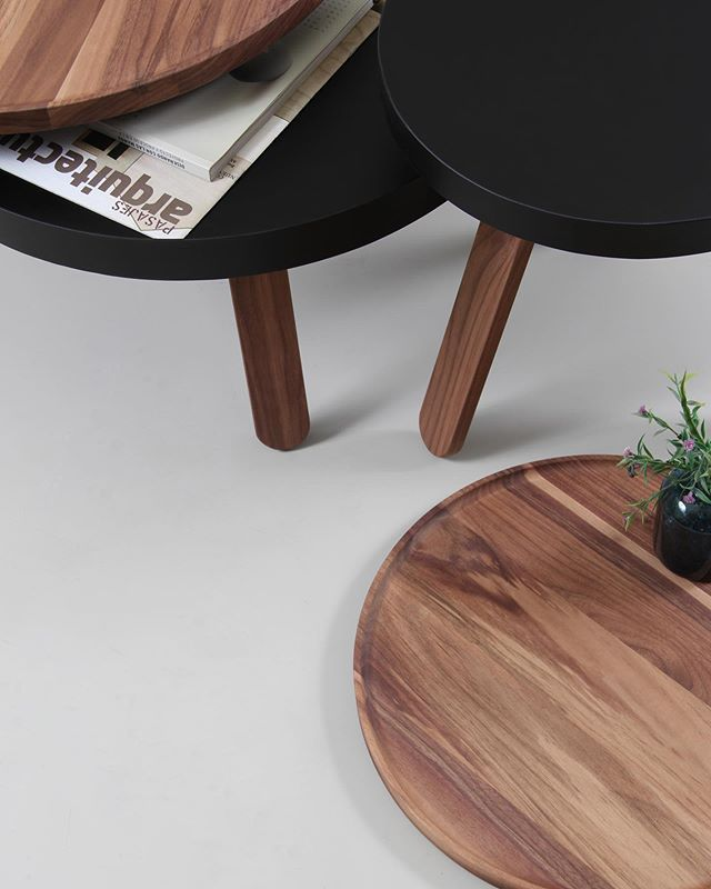 The tray table Batea S in Black and the Batea M storage coffee table in Walnut make the perfect match of functionality and design. Visit our website to know more details (link in bio) .⠀ .⠀ #batea #traytable #servingtray #coffeetable #sidetable #storagetable #woodentable #woodwork #interiordesign #designinspiration #spring #flowers #oakandwhite #oak #detail #craftwork #creative #livingroom #livingroomdecor #homedecor #homedecoration #design #furnituredesign
