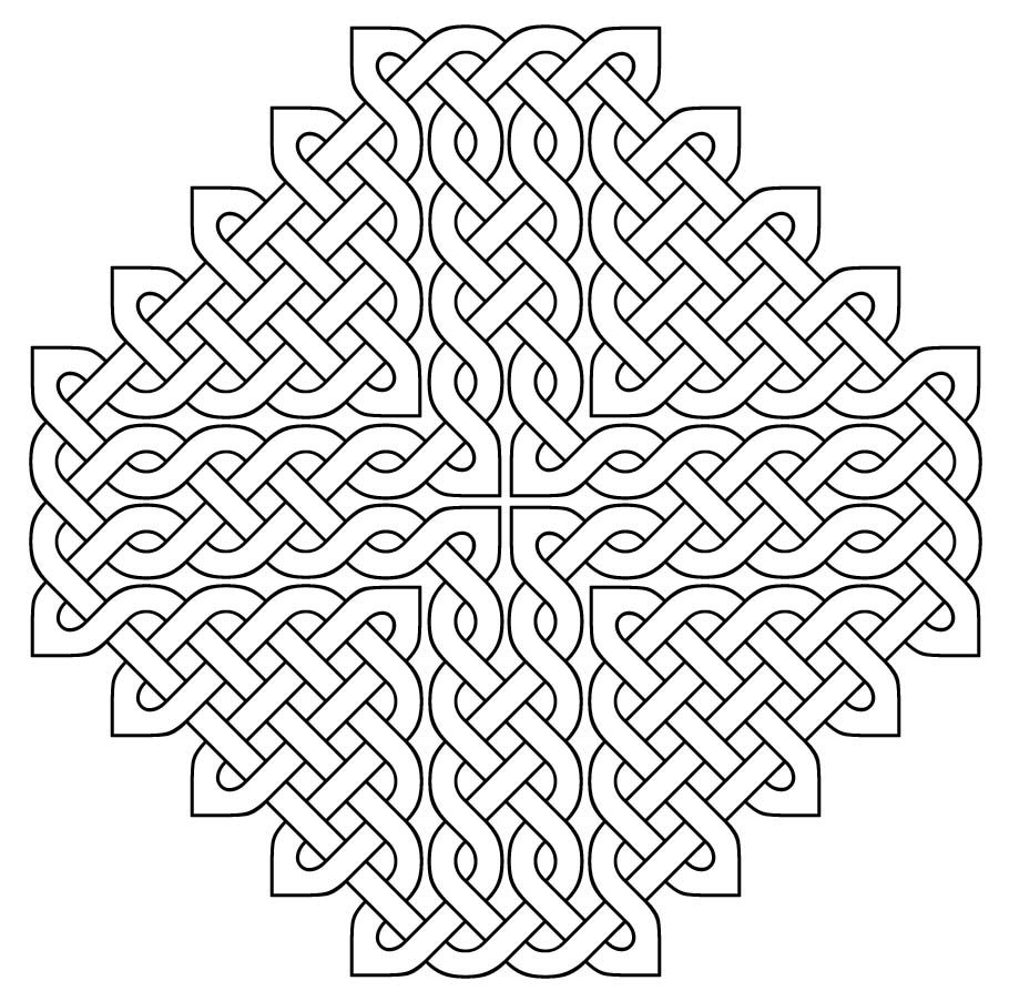 Celtic Designs Coloring Pages Pictures Imagixs Knots