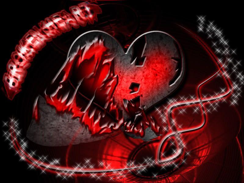 Broken Broken heart, Shattered heart