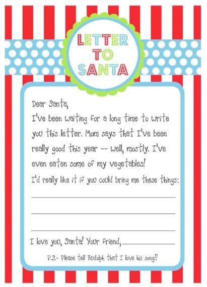Free Printables Santa Letters  Free Printable Santa Letters