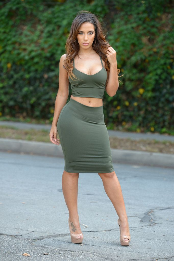 Pinterest Globalairy: Smooth Down Skirt - Olive