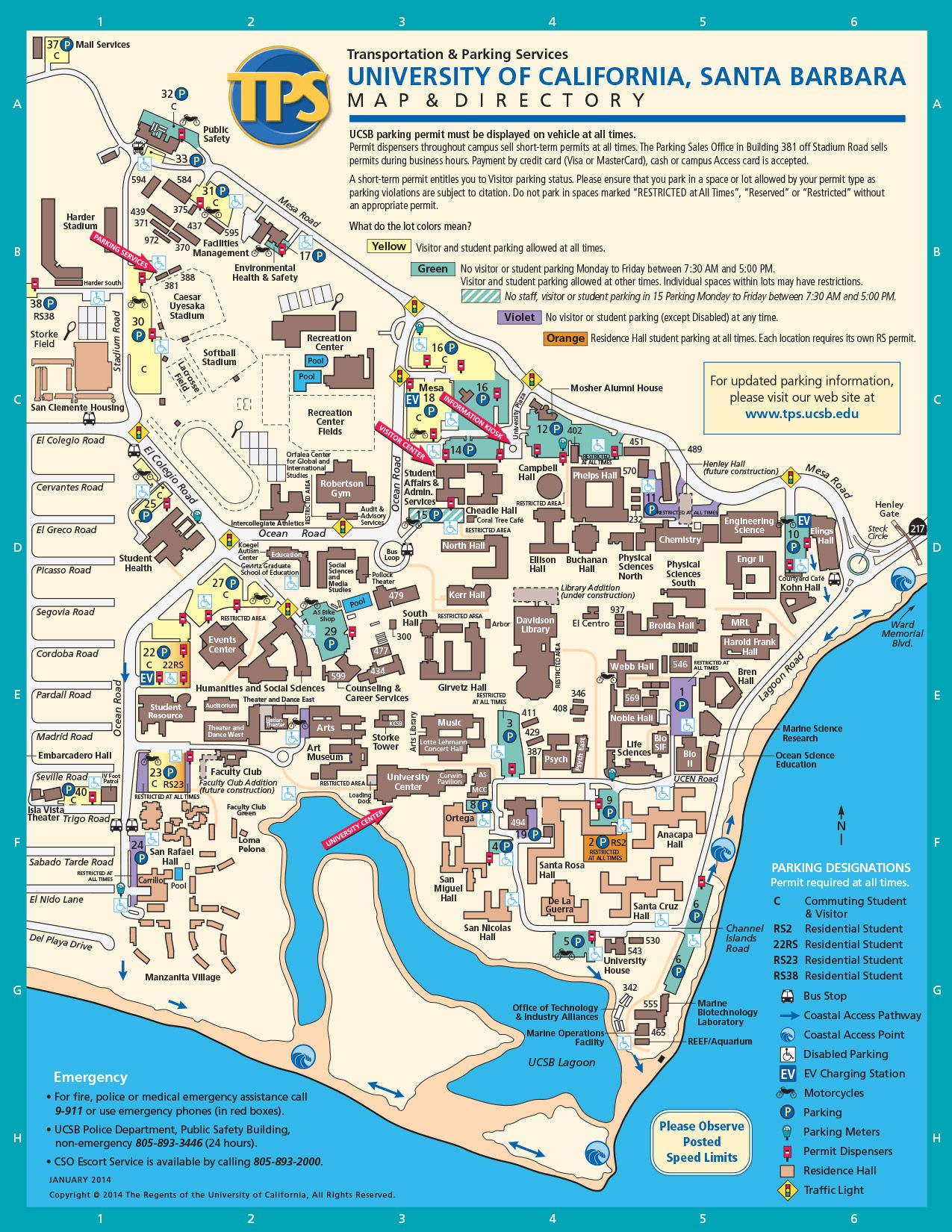 UCSB Campus Map actual bucketlist