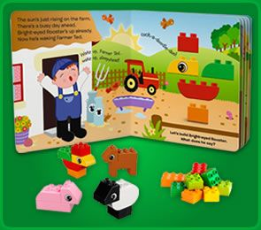 Here is the storybook set busy farm from the lego duplo Build storybook