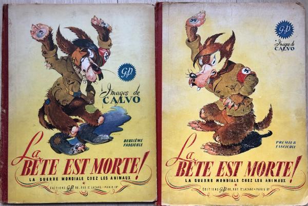 Calvo La Bete Est Morte Tomes 1 2 De 1944 1945 Etat D Origine Avec Usures Bd Planches Originales Albums Objets Dessins Pl La Bete Dessin Art