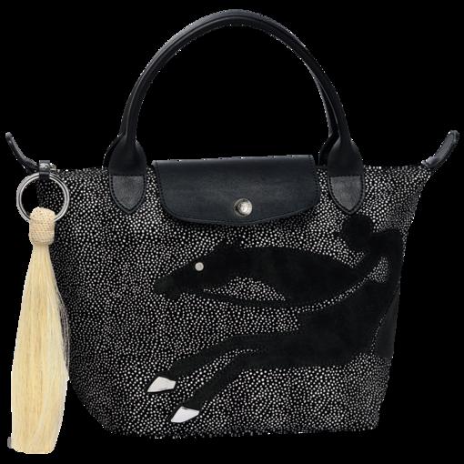 d3445504a565 Handbag  Cavalier Noir  - Le Pliage de Noël - Bags - Longchamp - Black -  Longchamp United-States