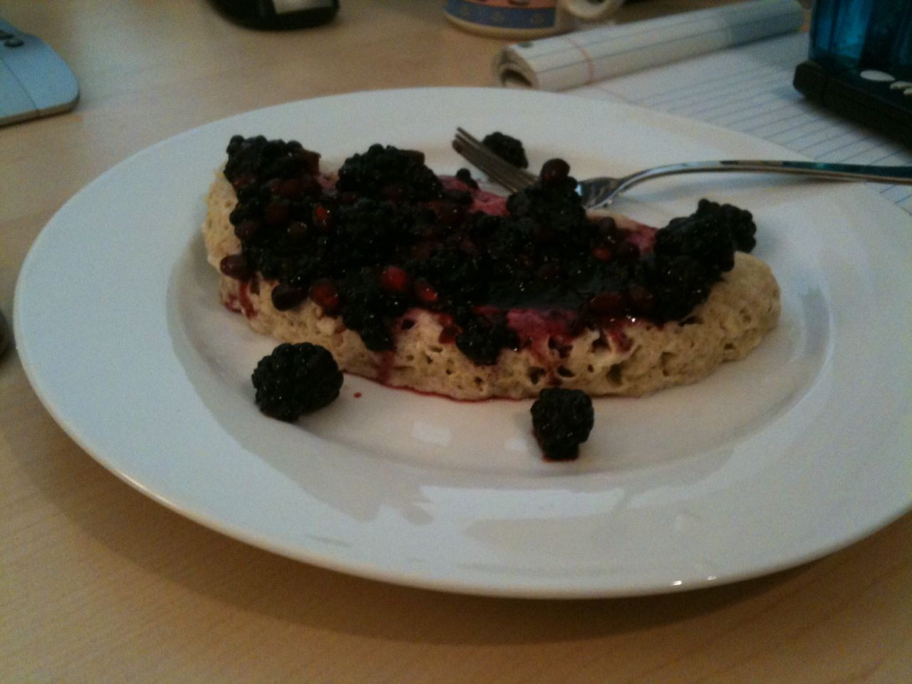 Protein pancake - make in microwave in 2 mins! Mix 1/2 ...