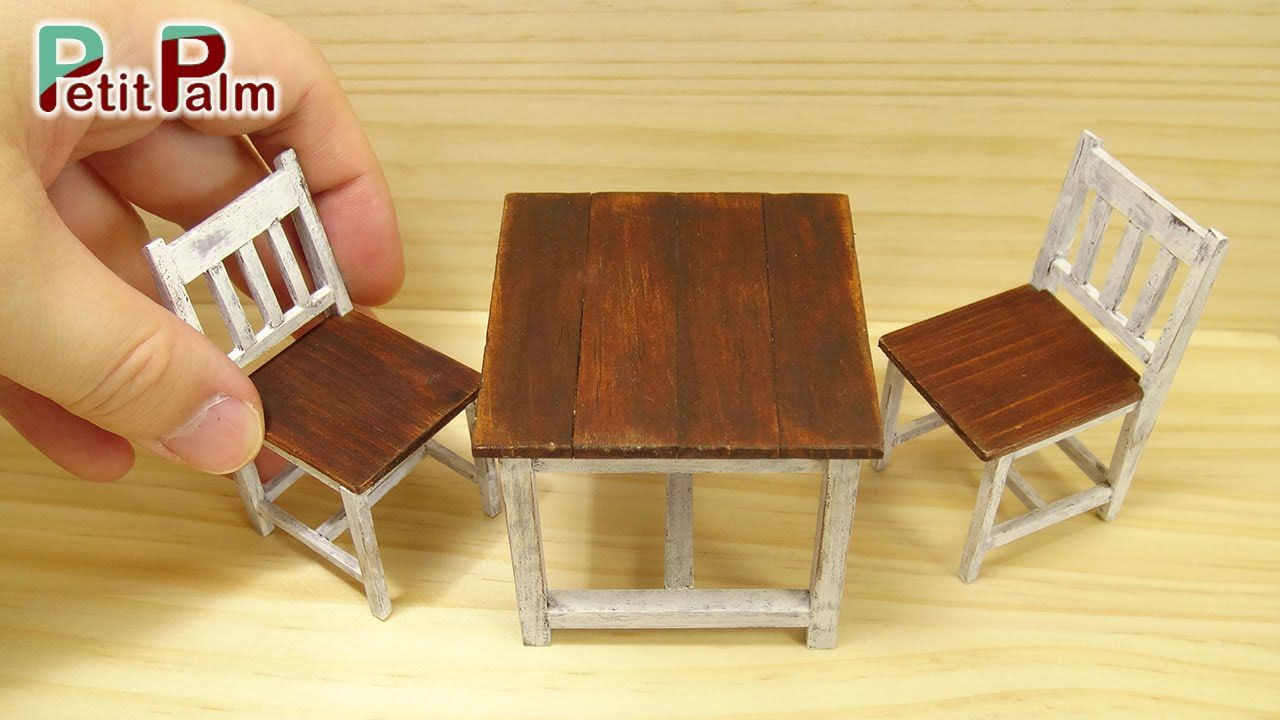 Table et Chaise en 1//12 Miniature de Maison de Poupée Meubles de Salon