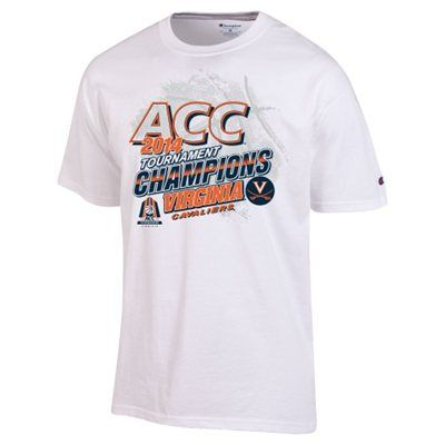 best website f56c8 f89e1 Virginia Cavaliers 2014 ACC Men s Basketball Conference Tournament Champions  Locker Room T-Shirt – White