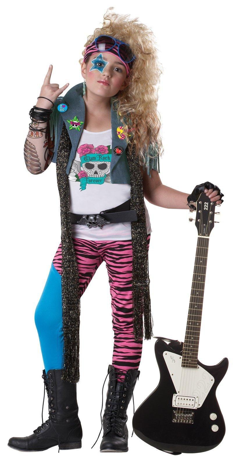 80's Glam Rocker Kids Costume from
