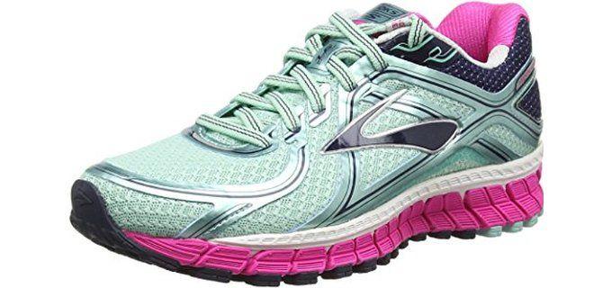 b07f9b1d3bf Brooks Women s Adrenaline Gts 16 Running Shoes for Flat Feet and  Overpronators