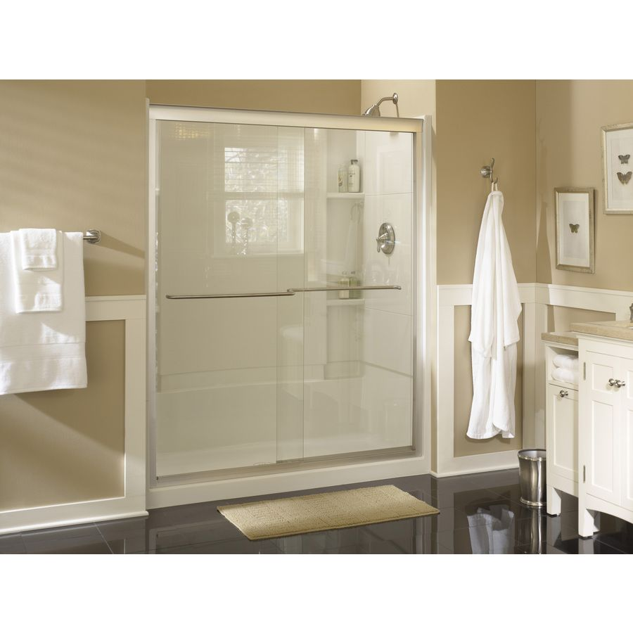 Shop Sterling Accord White Vikrell Shower Wall Surround