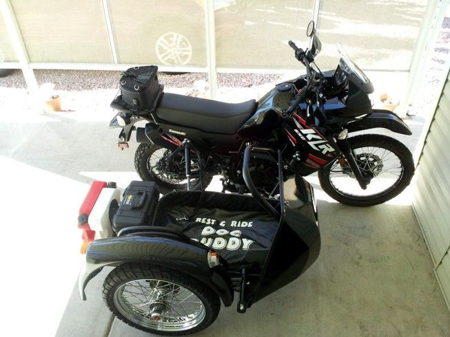 Black KLR 650 with dog-friendly sidecar | Motorcycles ...
