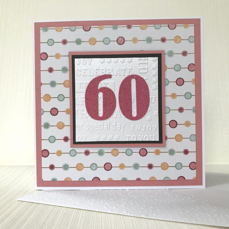 60th Birthday Card Handmade & Ready for Delivery 60th