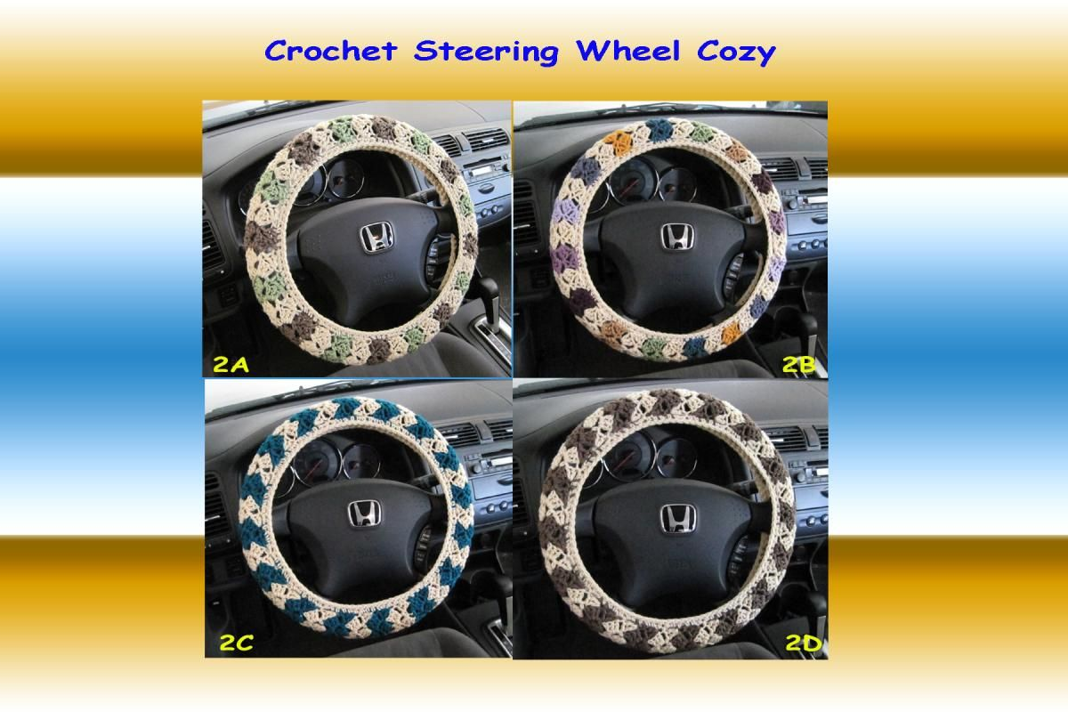 Crochet steering wheel cover steering wheel cover wheel