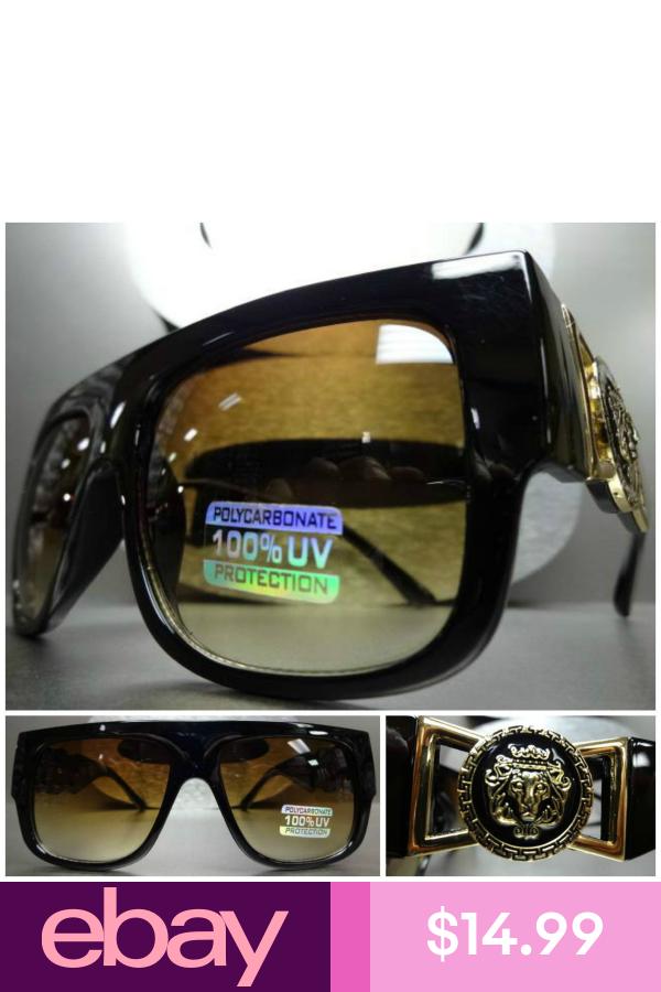 Classic Vintage Retro Hip Hop Rapper Gangster Sun Glasses Black Frame Honey Lens Eyewear Sunglasses Sunglasses Shoe Accessories