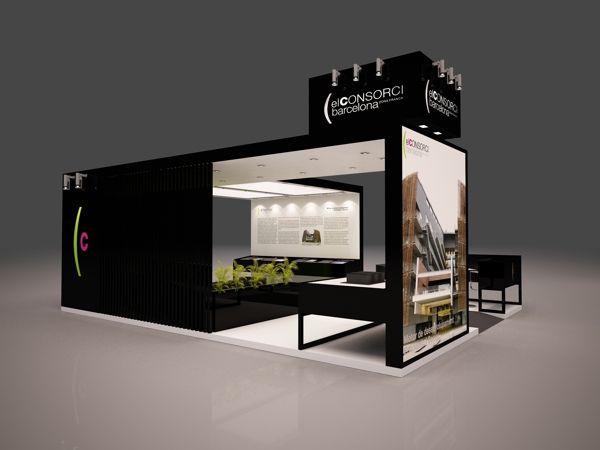 Exhibition Booth Behance : Stand el consorci de barcelona by quam brand environment