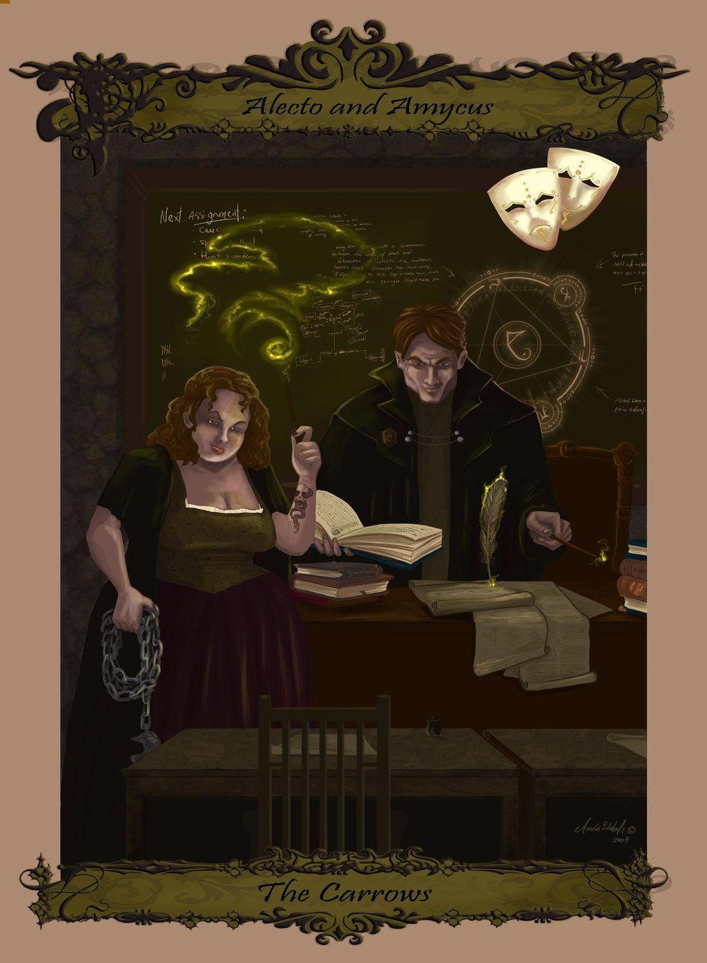 The Carrow Harry Potter Fan Art Harry Potter Art Artist