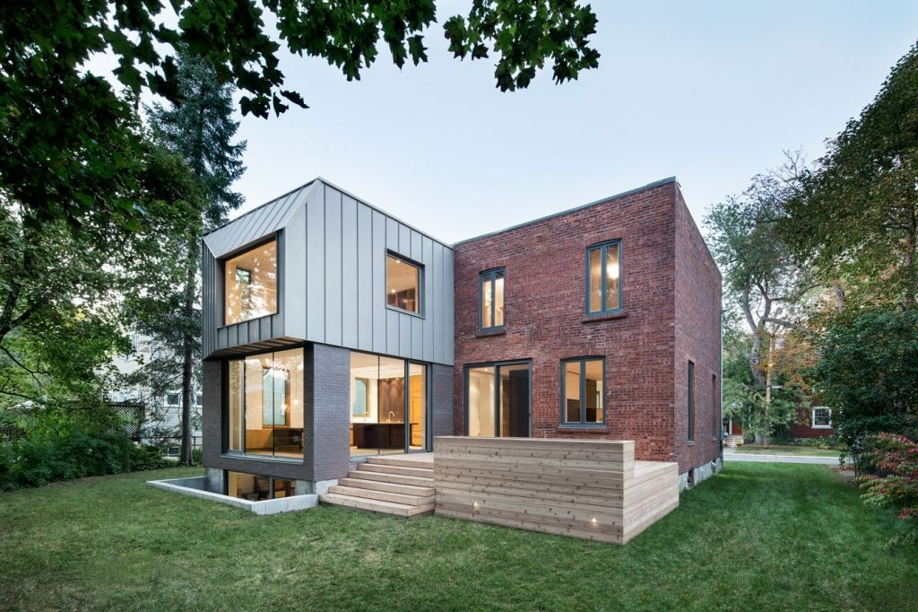 minimalistische terrasse vor backsteinbau mit modernem anbau houses pinterest backsteinbau. Black Bedroom Furniture Sets. Home Design Ideas