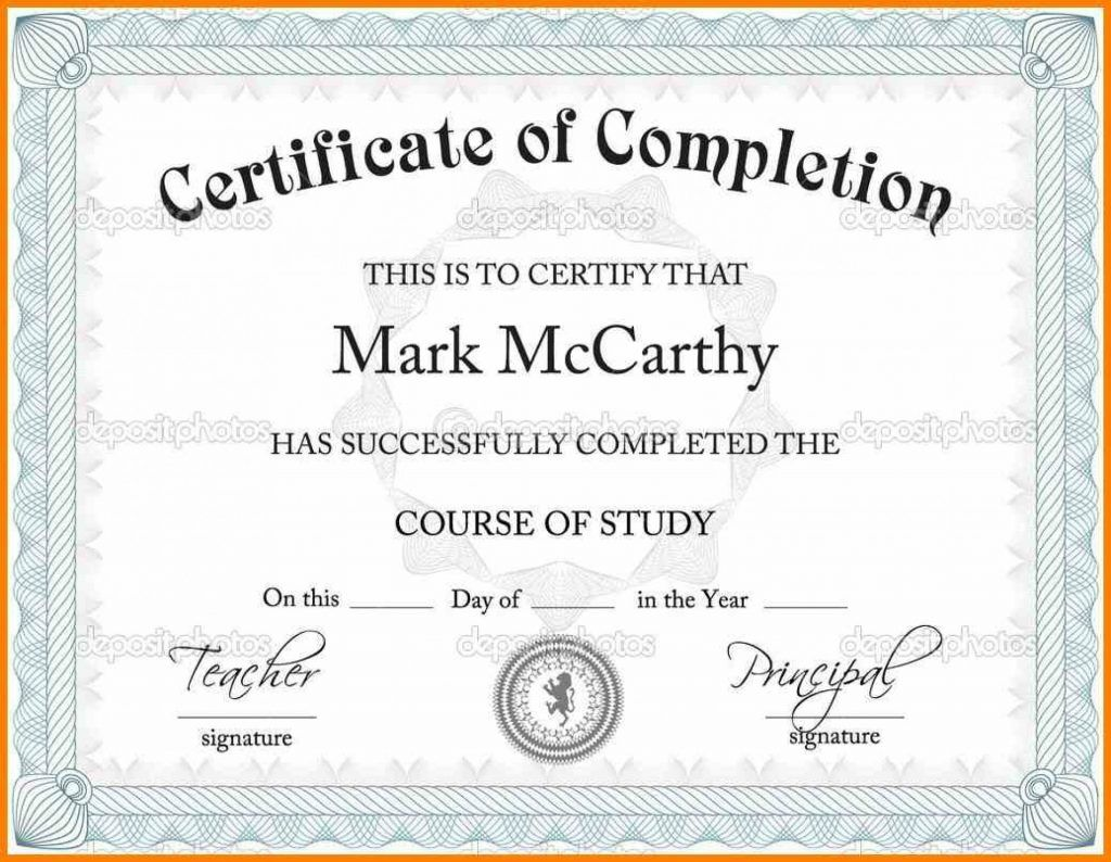 2019 Certificates And Printable Template Certificate Templates Throughout Certificate Of Completion Template Free Certificate Templates Certificate Templates Certificate of completion free template