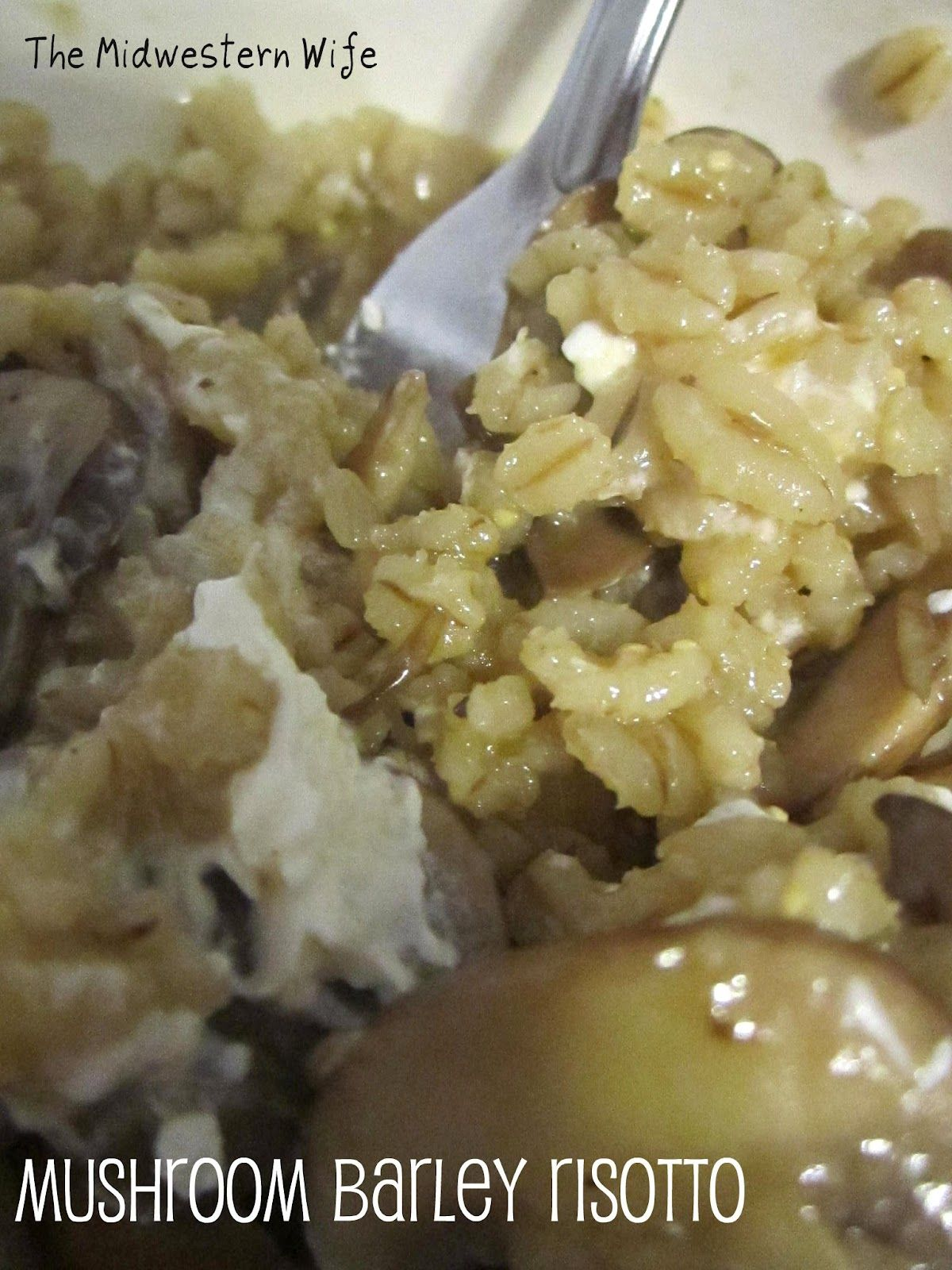 The Midwestern Wife: Mushroom and Barley Risotto