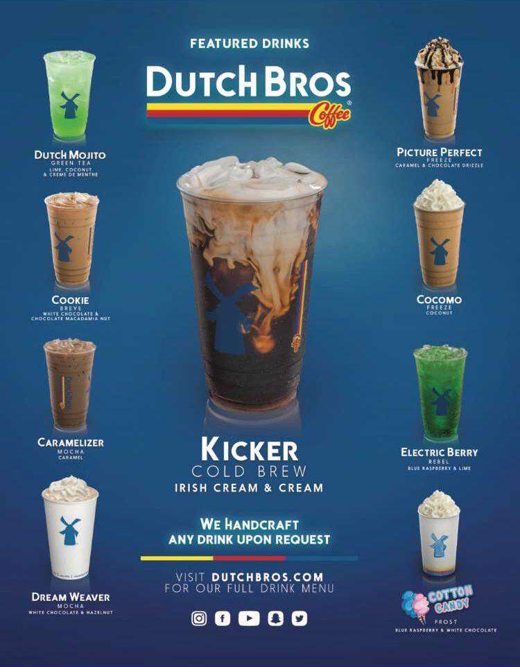 Dutch Bros Dutch Bros Coffee Dutch Bros Drinks Dutch Bros Dutch Bros Secret Menu